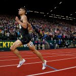 EUGENE, OR - JULY 10:  Matthew Centrowitz runs to the finish to place first in the Men's 1500 Meter Final during the 2016 U.S. Olympic Track & Field Team Trials at Hayward Field on July 10, 2016 in Eugene, Oregon.  (Photo by Andy Lyons/Getty Images)